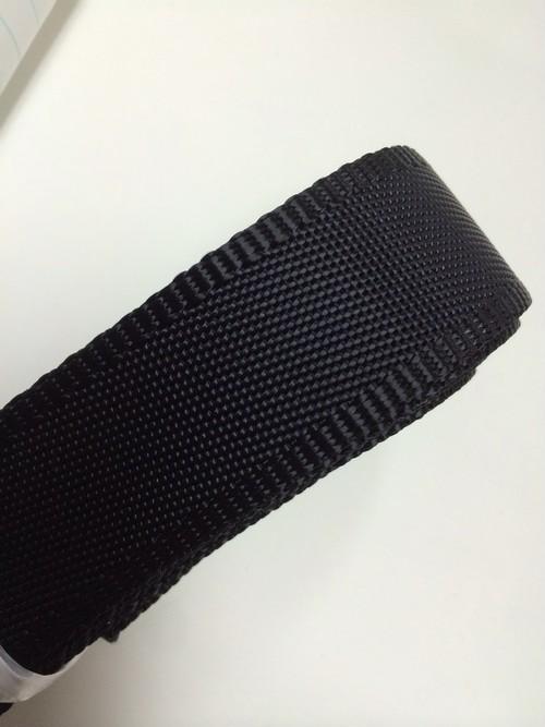 ナイロンテープ 耳付流綾織 30mm幅 黒 1m単位