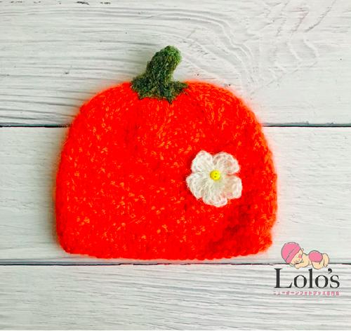 ハンドメイド♡Halloweenモヘアのかぼちゃ帽子