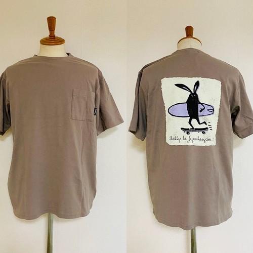 Shabby Skater Back Print T-shirts Brown