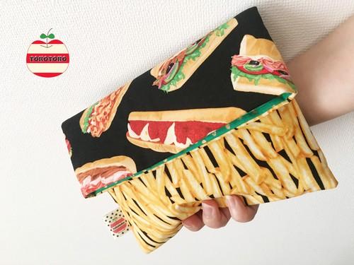 クラッチポーチ☆ハンバーガー
