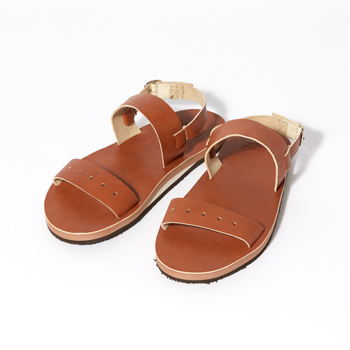 【FILL THE BILL】《MENS》MILITARY LEATHER SANDAL - BROWN