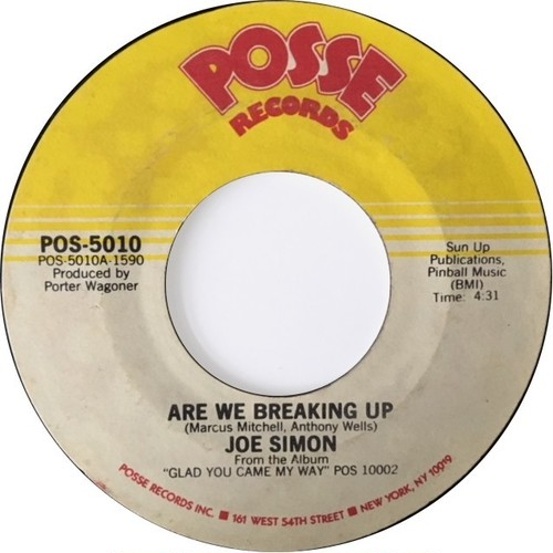 Joe Simon – Are We Breaking Up / We're Together