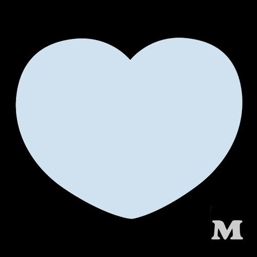 ハート型A(M)★ライトブルー