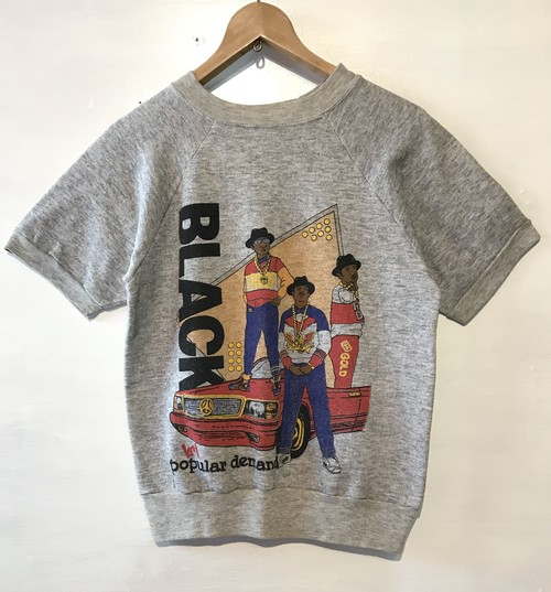 Vintage BLACK S/S Sweat S MADE IN USA