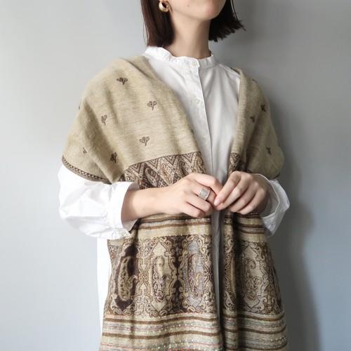 Vintage shawl / Beige