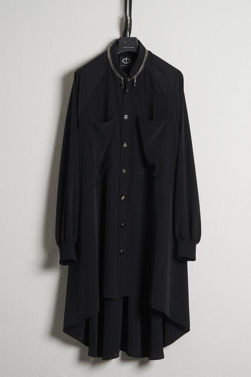 Buckle Rib Shirts / Black [21SS COLLECTION] ※受注終了