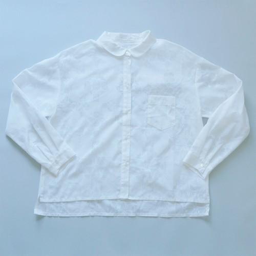 丸襟シャツ - 「鏡の花」