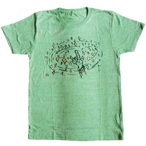 指キラ Tシャツ -Green