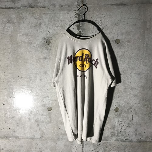 [Hard Rock Cafe] yellow logo designed T-shirt