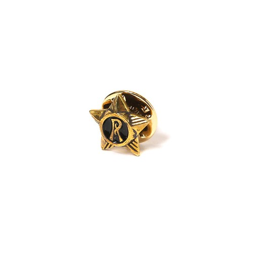 "RUDE GALLERY BLACK REBEL STAR PINS ""R"" <CHAOS DESIGN COLLABORATION>"