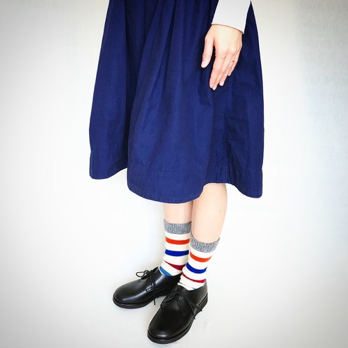 【受注生産】天然牛革のオイルレザーソトバネ靴(レディース・メンズ/黒)