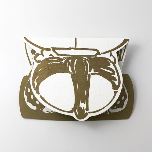 活版印刷のバースデイカード  /  福助:いぬんこ