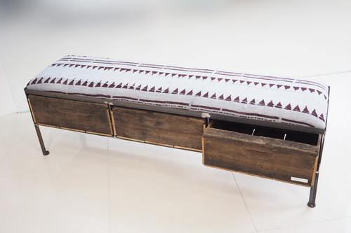 品番UAG3-102  3drawer ottoman[nerrow/African グレー batik tribal]