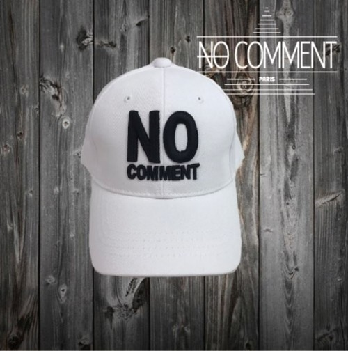 NOCOMMENT 立体刺繍ロゴワッペン/CAP NC-CP004SP ホワイト