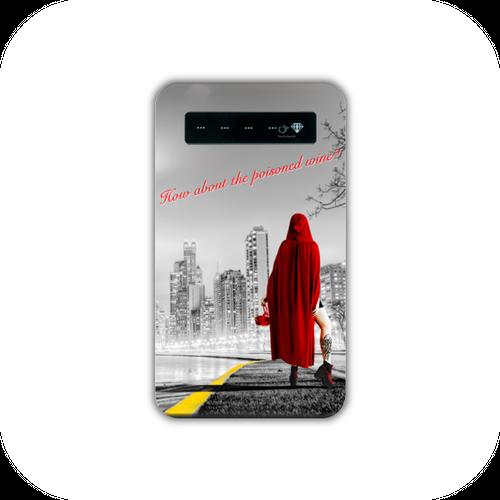 #010-011 おとぎ話系・ファンタジー系 モバイルバッテリー 《赤ずきんちゃん~ニューヨークへ行く~》 iphone スマホ 充電器 作:んご