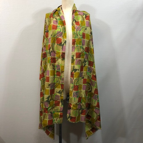 .ETRO PAISLEY PATTERNED WOOL SILK LARGE SIZE SHAWL MADE IN ITALY/エトロペイズリー柄ウールシルク大判ショール(ストール) 2000000038483