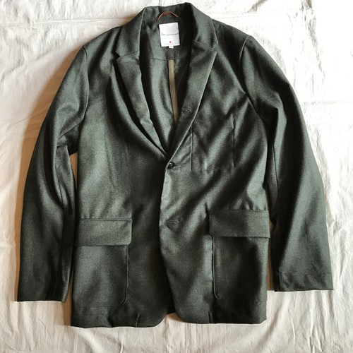 Wool Flannel Cover All Jacket(Re made in tokyo japan)