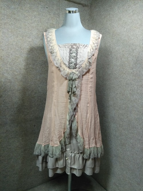 axes femme アクシーズファム ワンピース M ピンク系 y1191a