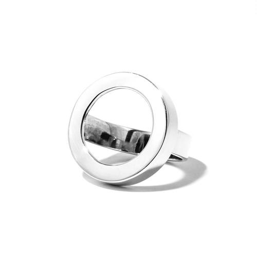 シルバーサイドメレーダイヤリング/円形