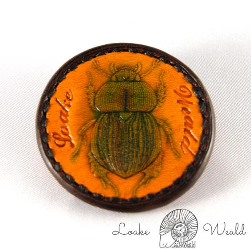 Brooch  Scarab beetle