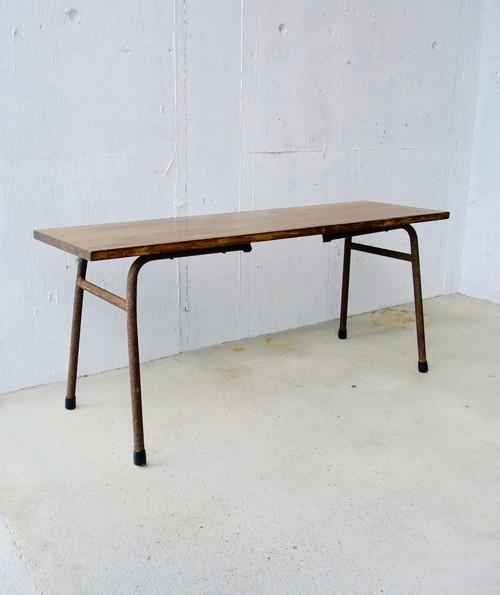 濃い木味×サビ脚のベンチ[オリジナルリメイク]