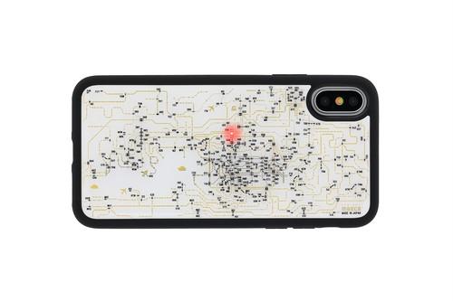 FLASH 関西回路線図 iPhoneX/XSケース 白【東京回路線図A5クリアファイルをプレゼント】