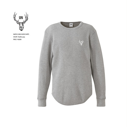 unfudge LONG SLEEVE SHIRTS / HEATHER GRAY