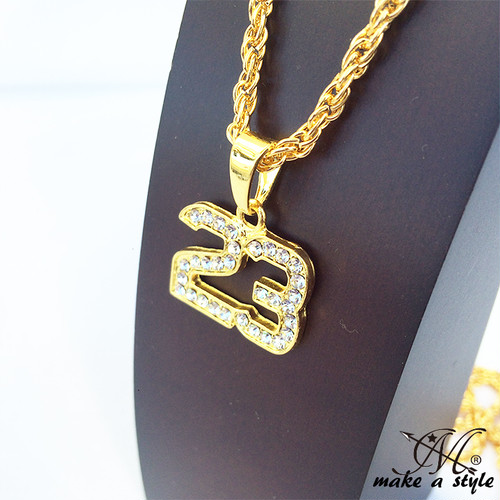 ブリンブリン バスケ ジョーダン NBA 23 ブルズ BULLS GOLD ゴールド 金 ネックレス ヒップホップ HIPHOP 163
