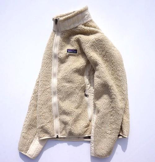'08年製 [patagonia] W's レトロX フリースジャケット アイボリーホワイト 表記(women's M) パタゴニア