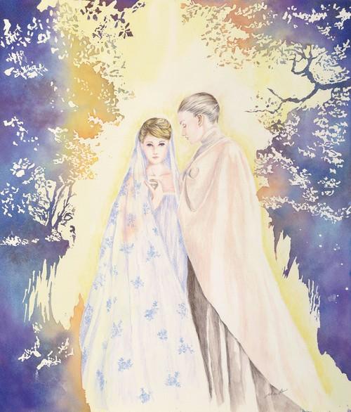 「暁のささやき」 Whispers in the dawn  水彩画