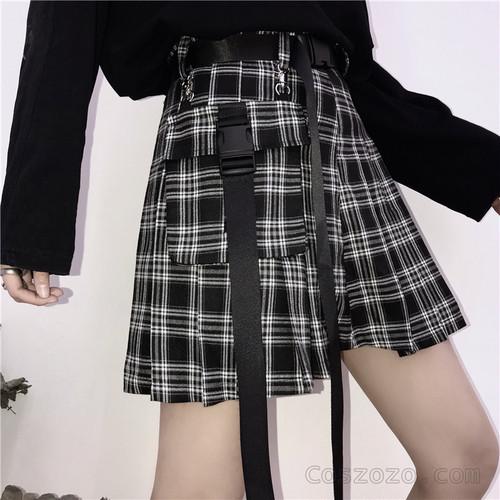 【ボトムス】INS大人気チェック柄スウィートAラインスカート19189127