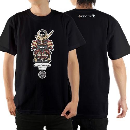 Tシャツ(上杉謙信) カラー:ブラック