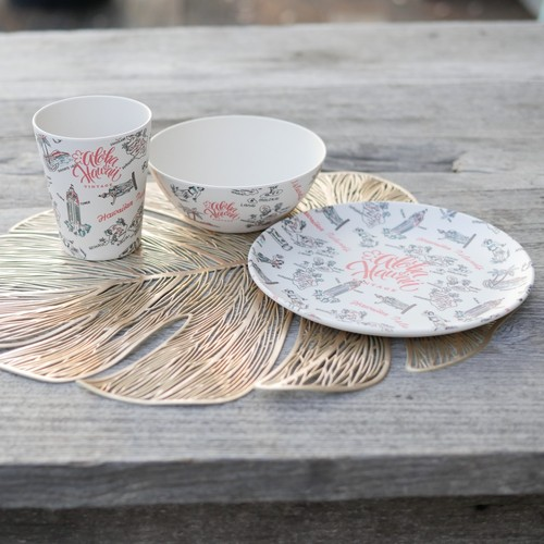 Bamboo Dishes Vintage