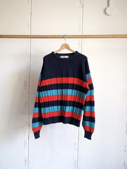 USED / Jantzen, cotton border knit