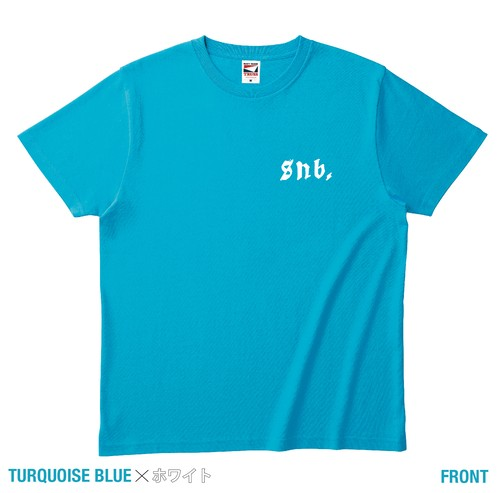 SNB. ハンドサイン T-Shirt  [  TURQUOISE BLUE Selected by 隅垣元佐  ]