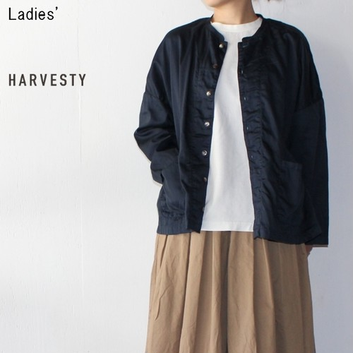 《再入荷》HARVESTY アトリエシャツ Atelier Shirt A41601 (NAVY) 【Ladies'】