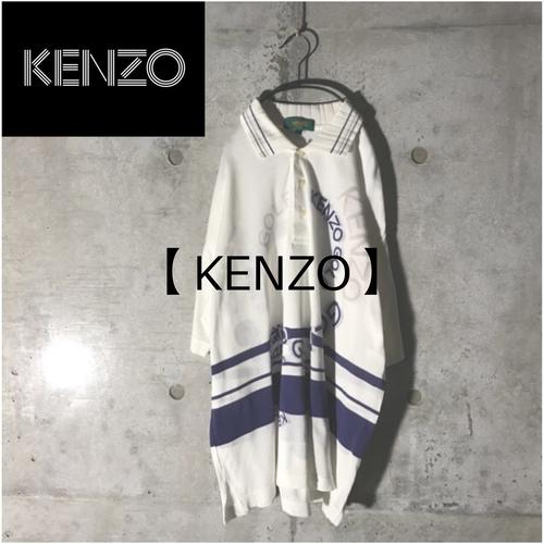 [KENZO] cercle designed white polo