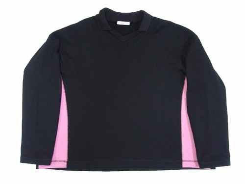 V-NECK SWEAT  BLACK  18AW-FS-26