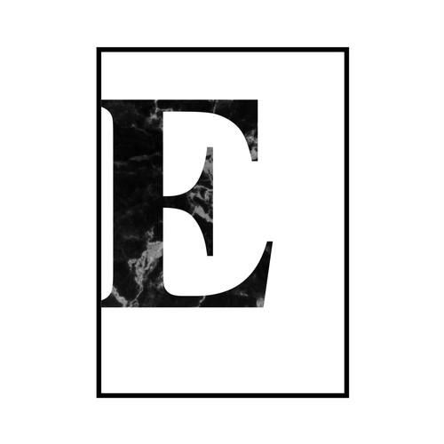 """""""E"""" 黒大理石 - Black marble - ALPHAシリーズ [SD-000506] A1サイズ ポスター単品"""