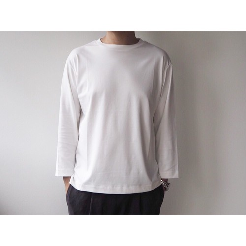 LAMOND(ラモンド) Suvin Cotton Bracelet Length sleeve Tee