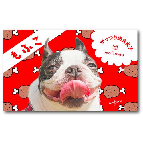 ペット名刺_長方形タイプ_犬とお肉柄デザイン(1個50枚)_rec_w_001-d