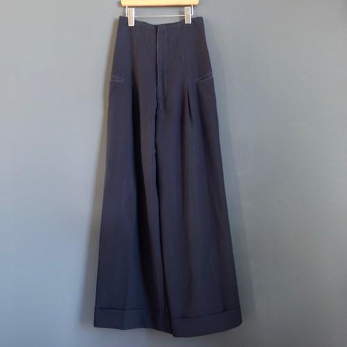 high-rise wide-leg pants