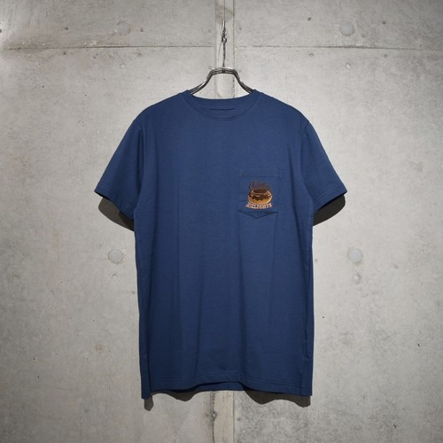 EXPANSION  003T DD EMBROIDERY T-SHIRT / DEEP BLUE