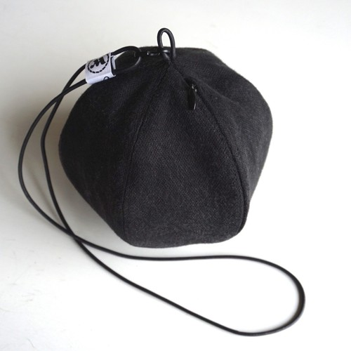 "[Magfacture] ""BALL POUCH"" Used Black Denim"
