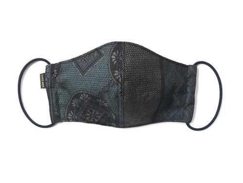 高級和柄素材 吸水速乾COOLMAX使用 日本製 ブルー色