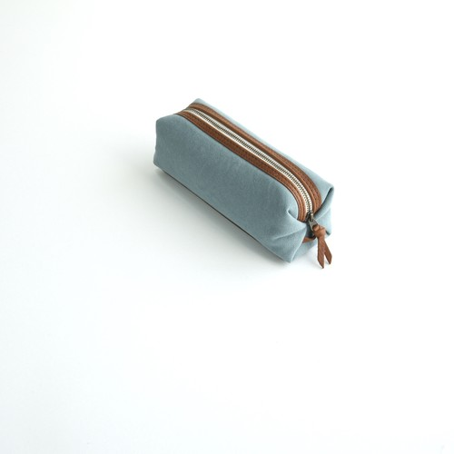CANVAS PEN CASE S / ICE GRAY
