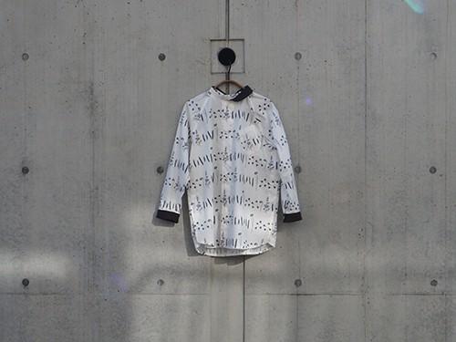 cotton raglan shirt(庭の植物柄)