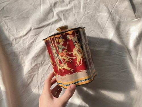 ENGLAND Vintage merry-go-round tin can