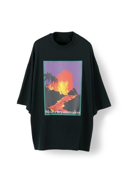 Inside Out Fat T (Volcano) -BLACK- / elephant TRIBAL fabrics