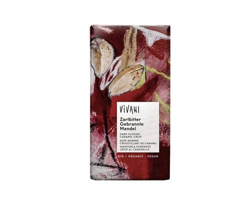 【冬季限定】VIVANI ( ヴィヴァーニ ) オーガニック ダークアーモンドチョコレート キャラメルクリスプ